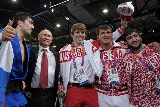 Putin si echipa rusa la JO Londra